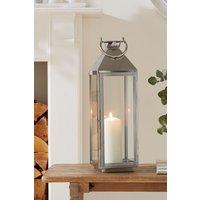 Next Large Chrome Lantern - Silver