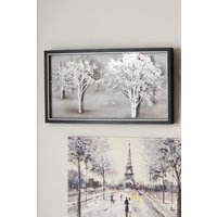Next Etched Glass Landscape Collection Luxe Frame - Silver