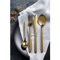 Next 16 Piece Gold Effect Cutlery Set - Brass