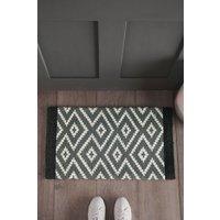 Next Geo Diamond Doormat - Grey