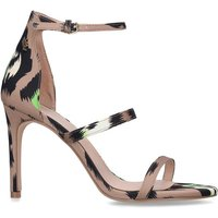 'Womens Kurt Geiger Ladies Tan Park Lane Leopard Fabric Heels -  Animal