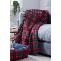 Next Tartan Dog Blanket - Red