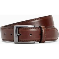 Mens Next Brown Signature Italian Leather Belt - Brown