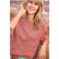 Womens Next Blush Drawstring Textured Sweater - Pink