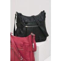 Womens Next Black Casual Messenger Bag - Black
