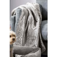 Next Crushed Velvet Dog Blanket - Grey