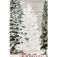Next 200 LED Snow Covered Cedar 6ft Christmas Tree - White