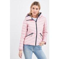 'Womens Superdry Pink Fuji Hooded Jacket -  Pink