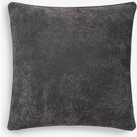 Next Soft Velour Large Square Cushion - Black