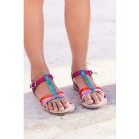 Girls Next Multi Cross Strap T-Bar Sandals (Older) - Pink