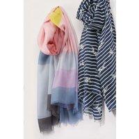 Womens Next Pastel Stripe Scarf - Pink