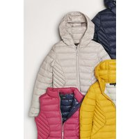 Womens Next Silver Pack Away Down Jacket - Grey