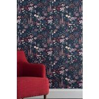 Next Paste The Paper Foxglove Floral Wallpaper - Blue