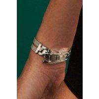 Womens Next Silver Tone Mesh Split Strap Watch - Silver