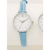 Womens Next Blue Croc Effect Strap Watch - Blue