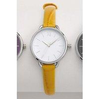 Womens Next Ochre Croc Effect Strap Watch - Yellow