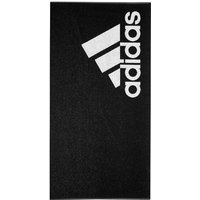 Mens adidas Black Logo Towel - Black