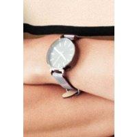 Womens Next Monochrome Check Print Strap Watch - Black