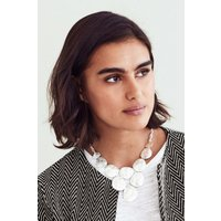 Womens Next Silver Tone Hammered Effect Statement Necklace - Silver