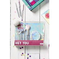 Girls Next Hey You Brush And Mirror Set - Silver