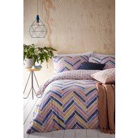 Riva Home Parquet Duvet Cover and Pillowcase Set - Pink