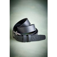 Mens Next Personalised Matt Leather Belt - Black
