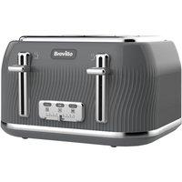 Breville Flow 4 Slot Toaster - Grey