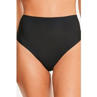 Womens Figleaves High Waisted Smoothing Thong - Black