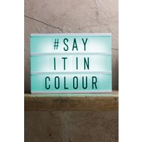 Mens Next Colour Changing A4 Personalisable Light Box