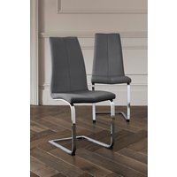 Next Set Of 2 Opus Cantilever Dining Chairs - Grey