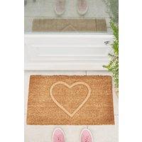 Next Heart Embossed Doormat - Natural