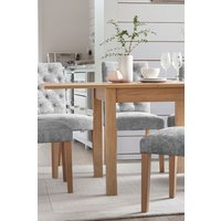 Next Malvern Oak 4-6 Seater Square To Rectangle Dining Table - Natural