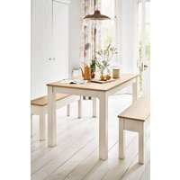 Next Malvern Dining Table And Bench Set - Cream