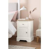Next Hampton Storage 1 Drawer Bedside Table - White