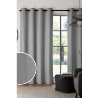 Next Eyelet Blackout/Thermal Cotton Curtains - Grey