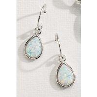 Womens Next Silver Opal Effect Drop Earrings - Silver