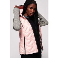 'Womens Superdry Storm Injected Luxe Hybrid Jacket -  Pink