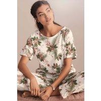 Womens Next Ecru Ruffle Palm Pyjama Set - White
