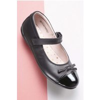 Girls Next Black Patent Toe Cap Shoes (Older) - Black