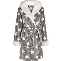 Womens Next Grey Star Sheepy Robe - Grey