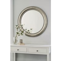 Next Round Beaded Mirror by Gallery - Pewter