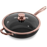 Tower Black And Rose Gold 28cm Multi Pan - Black