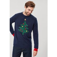 'Mens Joules Blue The Cracking Christmas Jumper -  Blue