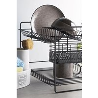 Next 2 Tier Dish Drainer - Black