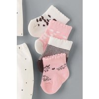 Girls Next Pink/Charcoal Socks Four Pack (Younger) - Pink
