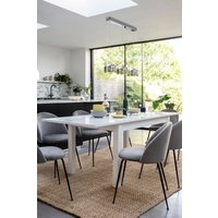 Next White Gloss Double Extending Dining Table - White