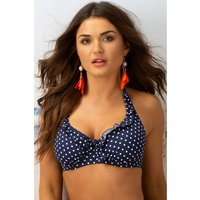 Womens Pour Moi Hot Spots Halter Underwired Top - Blue
