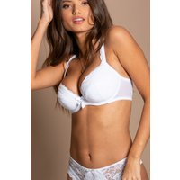 Womens Pour Moi Rebel Padded Plunge Bra - White