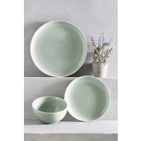 Next 12 Piece Kempton Dinner Set - Green