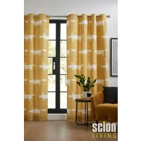 Scion Mr Fox Eyelet Curtains - Yellow